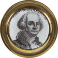 Political:3D & Other Display (pre-1896), George Washington: Small Battersea Curtain Tie-Back....