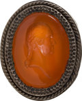 Political:3D & Other Display (pre-1896), George Washington: Carnelian Man's Ring....