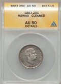 Coins of Hawaii: , 1883 25C Hawaii Quarter -- Cleaned -- ANACS. AU50 Details. NGCCensus: (15/935). PCGS Population (69/1319). Mintage: 500,00...
