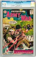 Silver Age (1956-1969):War, Our Army at War #144 (DC, 1964) CGC NM- 9.2 Off-white to white pages....