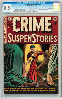Crime SuspenStories #13 Gaines File Copy pedigree 12/13 (EC, 1952) CGC VF+ 8.5 Off-white to white pages