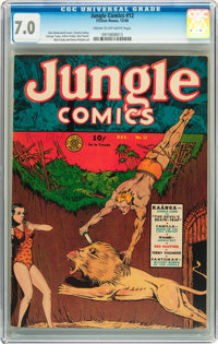 Jungle Comics #12 (Fiction House, 1940) CGC FN/VF 7.0 Cream to off-white pages