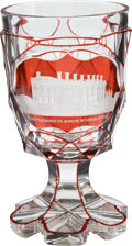 Political:3D & Other Display (pre-1896), Bohemian Glass White House Crystal Goblet....