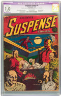 Golden Age (1938-1955):Horror, Suspense Comics #1 (Continental Magazines, 1943) CGC Apparent FR1.0 Slight (A) Off-white pages....