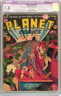 Planet Comics #1 (Fiction House, 1940) CGC Apparent GD- 1.8 Slight (A) Slightly brittle pages