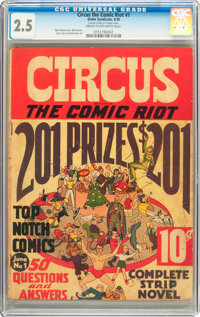 Circus the Comic Riot #1 (Globe Syndicate, 1938) CGC GD+ 2.5 Cream to off-white pages