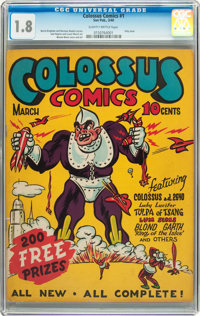 Colossus Comics #1 (Sun Publications, 1940) CGC GD- 1.8 Slightly brittle pages