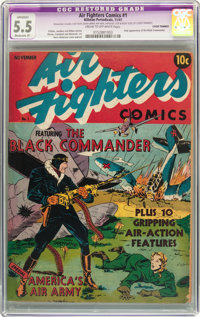 Air Fighters Comics #1 (Hillman Fall, 1941) CGC Apparent FN- 5.5 Moderate (P) Cream to off-white pages
