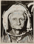 Autographs:Celebrities, Twenty-Three Early Astronaut Signatures on a Large HumorousPhoto....