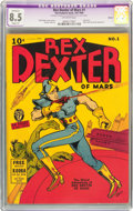 Golden Age (1938-1955):Science Fiction, Rex Dexter of Mars #1 Denver pedigree (Fox Features Syndicate,1940) CGC Apparent VF+ 8.5 Slight (P) Off-white pages....