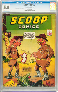 Scoop Comics #1 (Chesler, 1941) CGC VG/FN 5.0 Slightly brittle pages