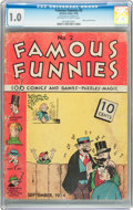 Golden Age (1938-1955):Humor, Famous Funnies #2 (Eastern Color, 1934) CGC FR 1.0 Off-white towhite pages....