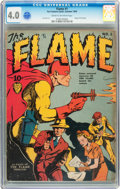 Golden Age (1938-1955):Superhero, The Flame #1 (Fox, 1940) CGC VG 4.0 Cream to off-white pages....