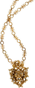 Estate Jewelry:Necklaces, Diamond, Gold Necklace. ...