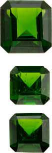 Estate Jewelry:Unmounted Gemstones, Unmounted Chrome Diopside Lot. ...