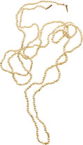 Estate Jewelry:Pearls, Natural Pearl, Gold Necklace. ...
