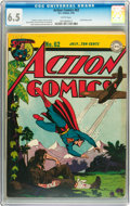 Golden Age (1938-1955):Superhero, Action Comics #62 (DC, 1943) CGC FN+ 6.5 White pages....