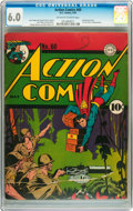 Golden Age (1938-1955):Superhero, Action Comics #60 (DC, 1943) CGC FN 6.0 Off-white to white pages....