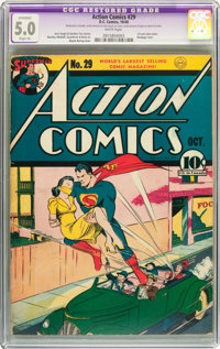Action Comics #29 (DC, 1940) CGC Apparent VG/FN 5.0 Slight (A) White pages