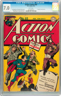 Golden Age (1938-1955):Superhero, Action Comics #69 (DC, 1944) CGC FN/VF 7.0 White pages....