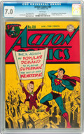 Golden Age (1938-1955):Superhero, Action Comics #80 (DC, 1945) CGC FN/VF 7.0 White pages....