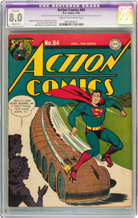 Action Comics #84 (DC, 1945) CGC Apparent VF 8.0 Slight (A) Cream to off-white pages