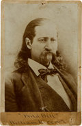 """Photography:Cabinet Photos, """"Wild Bill"""" Hickok: A Rare Photographic Portrait Cabinet Card. ..."""