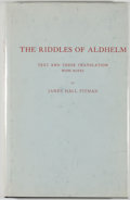 Books:Literature Pre-1900, James Hall Pitman [translator]. The Riddles of Aldhelm.[Hamden]: Archon Books, 1970. Later edition. Octavo. 79 page...