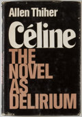 Books:Reference & Bibliography, Group of Four Books Relating to Literary Study, including: AllenThiher. Celine: The Novel as Delirium. New ... (Total: 4Items)