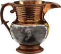 Political:3D & Other Display (pre-1896), Andrew Jackson: Smallest Size Copper Luster Pitcher....
