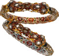 Estate Jewelry:Bracelets, Enamel, Diamond, Gold Bracelets. ...