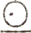 Estate Jewelry:Suites, Amethyst, Gold, Sterling Silver Jewelry Suite, David Yurman. ...