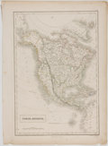 Antiques:Posters & Prints, Engraved, Hand-Colored Map of North America with Texas as aRepublic. Edinburgh: A. & C. Black, 1847. Measures 17 x 12.5inc...