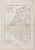 Antiques:Posters & Prints, [Rigobert] Bonne. Copper Engraved Map of Holland. Paris: [ca. 1787]. Measures 16.5 x 11.5 inches. Minor toning and foxing to...