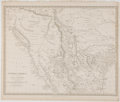 Antiques:Posters & Prints, J. & C. Walker. Wonderful Engraved Map of Central America with Texas as a Republic. [London]: Chapman & Hall, 1842. Measures...