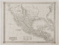 Antiques:Posters & Prints, Alex Findlay. Engraved Map of Mexico and Guatemala. London: ThomasKelly, 1842. Measures 8 x 10.5 inches. Minor edge toning ...