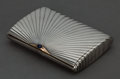 Silver Smalls:Cigarette Cases, AN ALEXEYEV RUSSIAN SILVER, GOLD AND SAPPHIRE CIGARETTE CASE . IvanAlexeyev, Moscow, Russia, circa 1900 . Marks: (right fac...