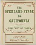 Books:Americana & American History, Frank A. Root. The Overland Stage to California. Glorieta:Rio Grange Press, [1970]. Facsimile edition, first printi...