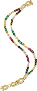 Estate Jewelry:Bracelets, Diamond, Sapphire, Ruby, Emerald, Gold Bracelet. ...