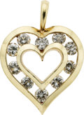 Estate Jewelry:Pendants and Lockets, Diamond, Gold Pendant, Flaircraft. ...