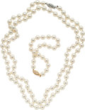 Estate Jewelry:Suites, Cultured Pearl, Gold Jewelry Suite. ...