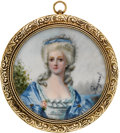 Estate Jewelry:Brooches - Pins, Painted Portrait, Gold Pendant-Brooch. ...