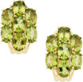 Estate Jewelry:Earrings, Peridot, Gold Earrings. ...