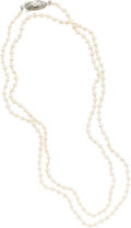 Estate Jewelry:Pearls, Cultured Pearl, Silver Necklace. ...