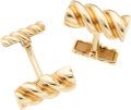 Estate Jewelry:Cufflinks, Gold Cuff Links, Tiffany & Co.. ...
