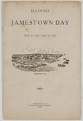 Books:Americana & American History, Illinois: Jamestown Day. May 13, 1607 - May 13, 1907.Springfield: Phillips Bros., 1907. Octavo. 14 pages. Publisher'sw...