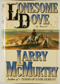 Books:Fiction, Larry McMurtry. Lonesome Dove. New York: Simon andSchuster, [1985]. First edition. Octavo. 843 pages. Publisher...