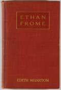 Books:Fiction, Edith Wharton. Ethan Frome. New York: Scribner's, 1911.First edition. Octavo. 195 pages. Publisher's cloth binding....