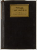 Books:Fiction, Ernest Hemingway. Winner Take Nothing. New York: Scribner's,1933. First edition. Octavo. 244 pages. Publisher's bin...