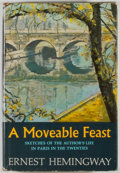 Books:Biography & Memoir, Ernest Hemingway. A Moveable Feast. New York: Scribner's,[1964]. First edition. Octavo. 211 pages. Publisher's ...